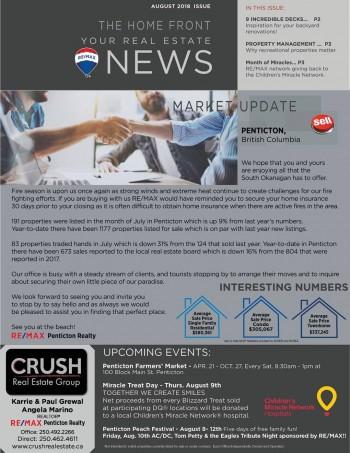 South Okanagan Real Estate News – August 2018