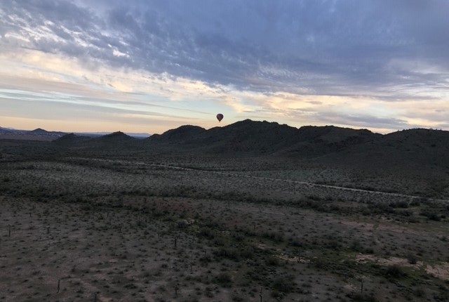 Arizona hot air balloon ride.